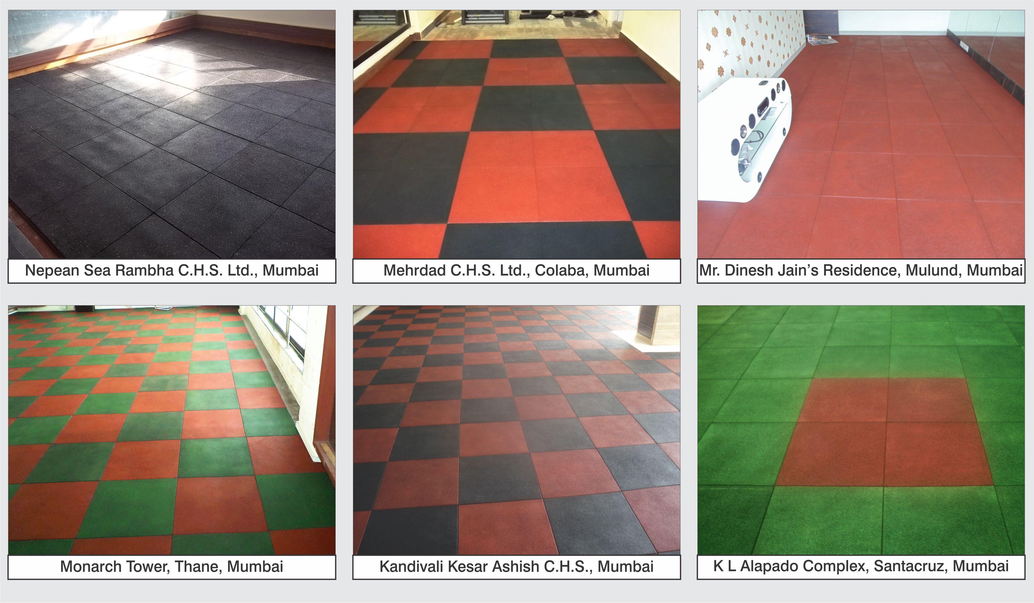 Ecoflex Tuffloor Rubberised Cushioned Tiles