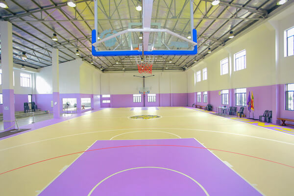 installed indoor basketball court multifunctional sports flooring